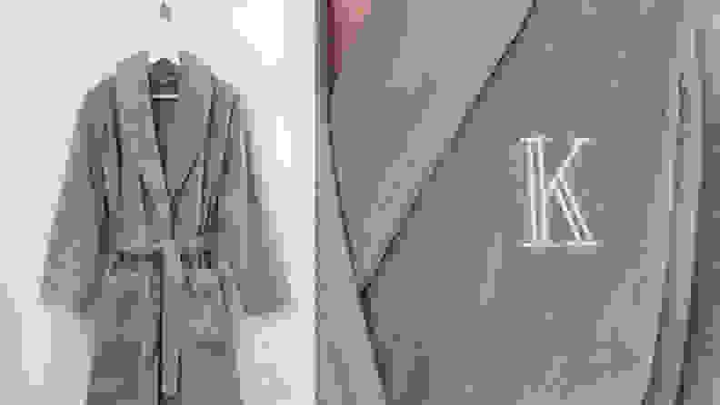 monogramed robe