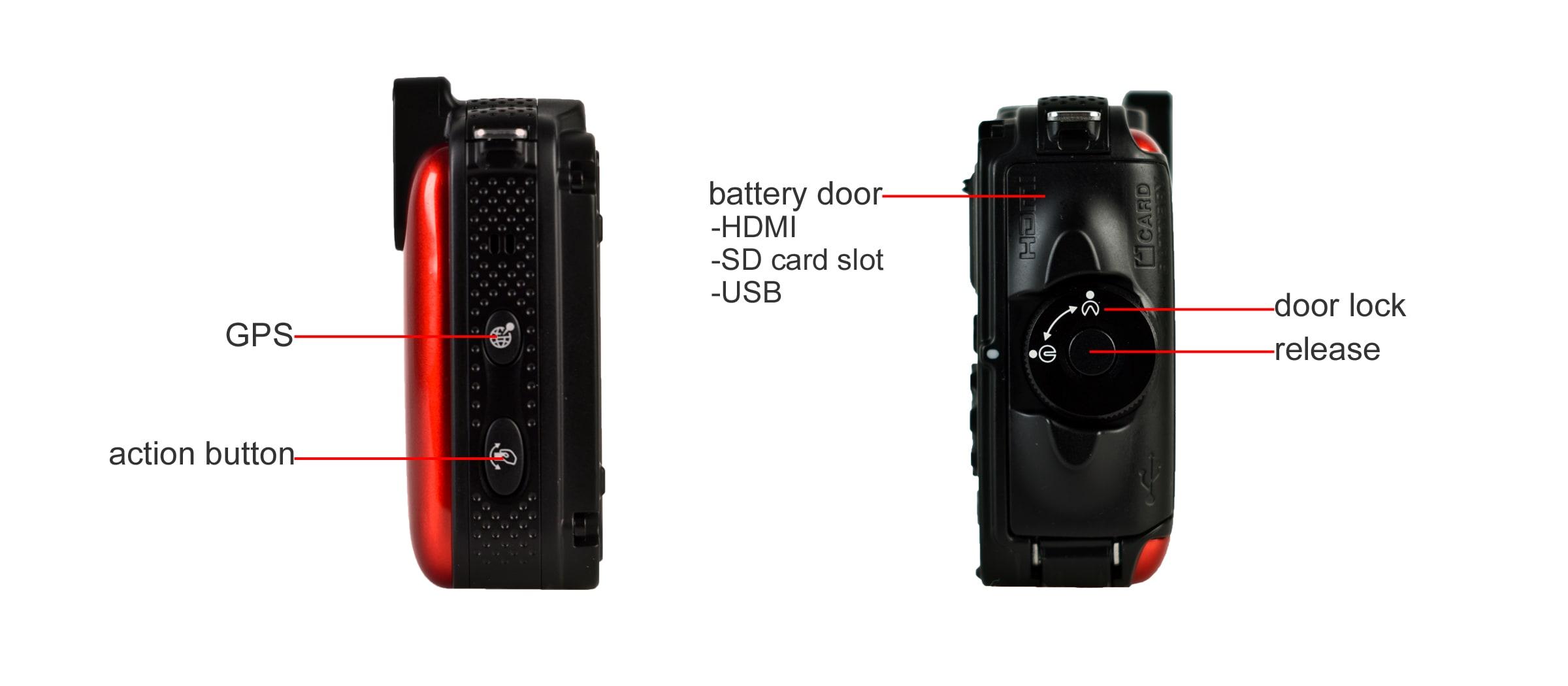 A breakdown of the Nikon AW120's sides.