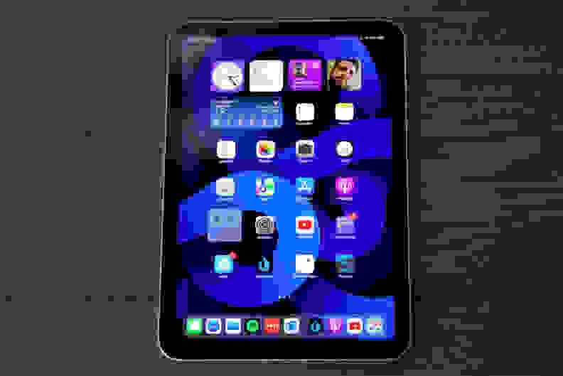 Apple's iPad Mini 6th-gen with the display on