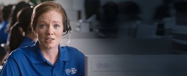 A Time Warner customer service rep