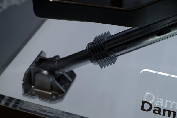 The rear suspension adds additional support to the washer.