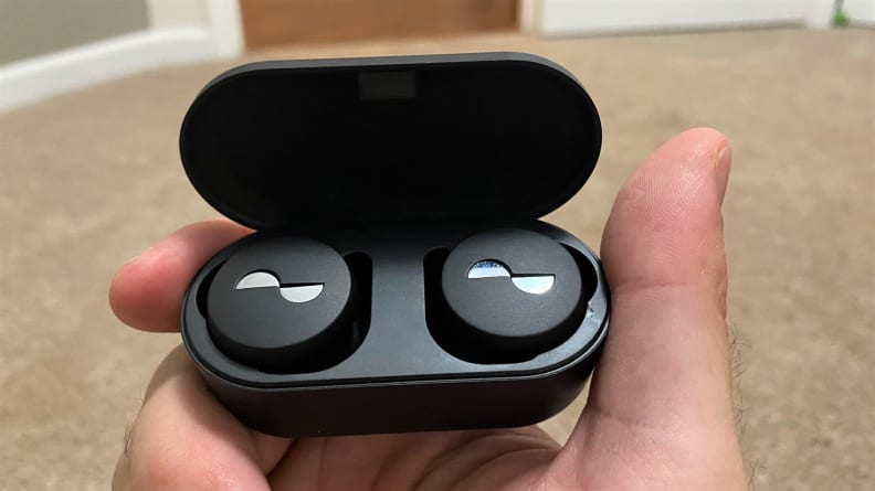 The Nuratrue are Nura's first true wireless earbuds, packing exceptional, customized sound into a circular package.