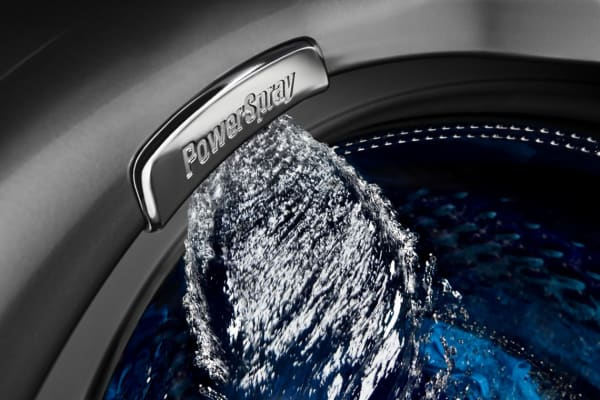 Power spray recirculates detergent so you can get the most out of your stain fighters.
