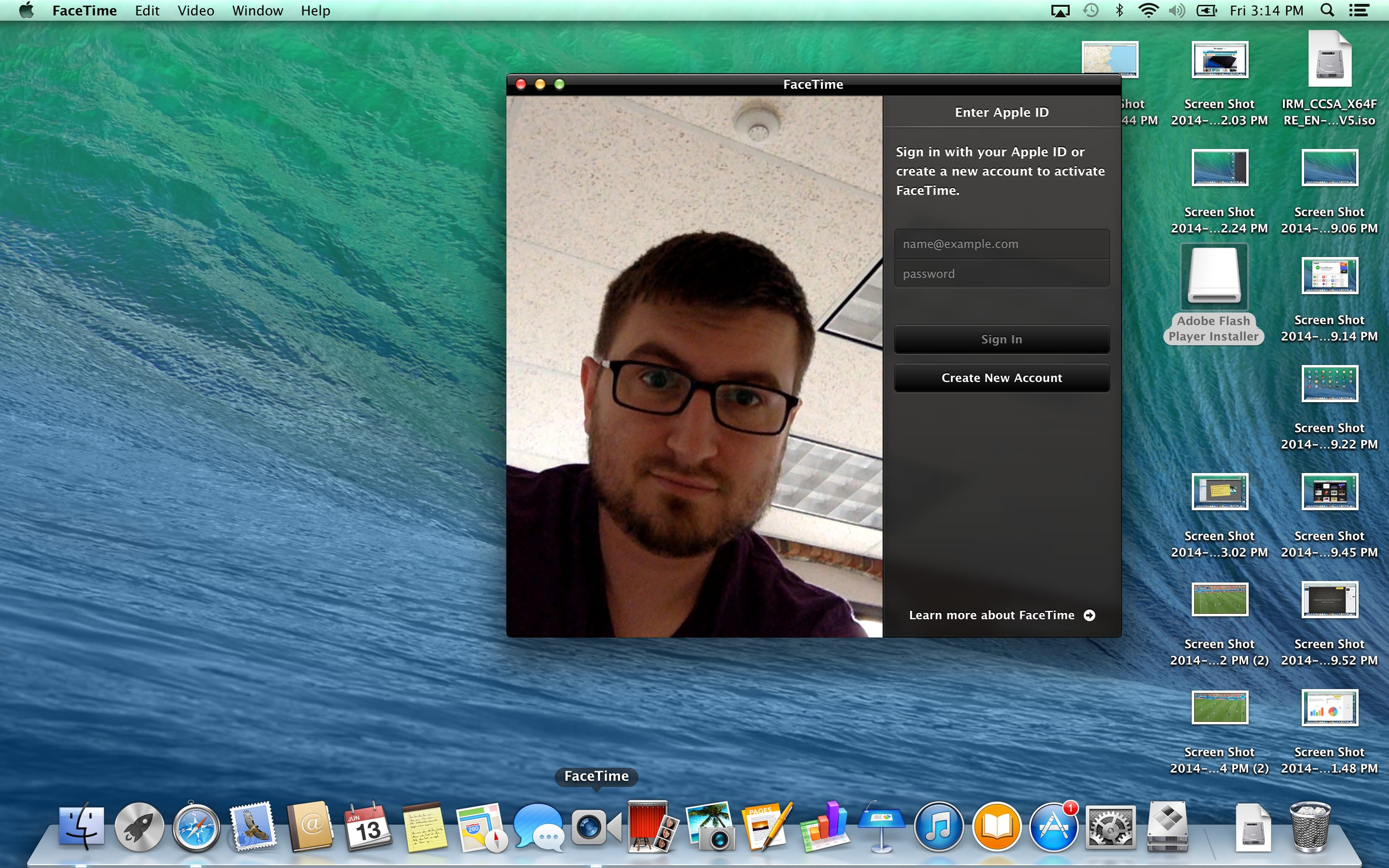 A screenshot of the Apple MacBook Pro with Retina Display's Facetime software.