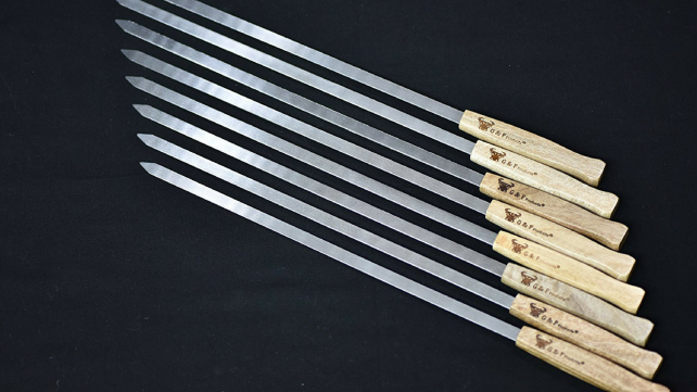 G & F Stainless Steel BBQ Skewers