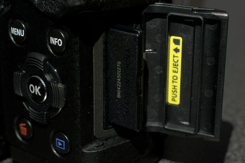 Having a separate SD card slot is one of the enthusiast-centric features on display here.