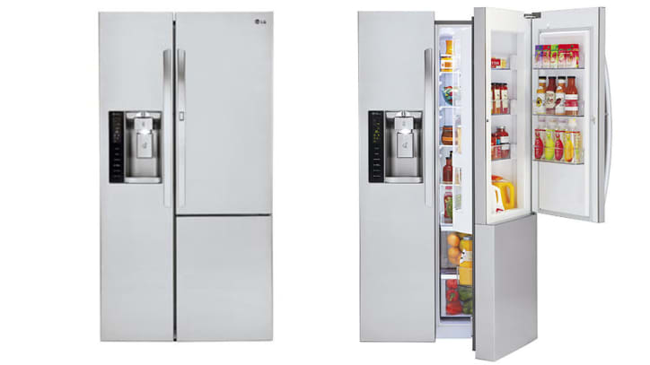 Lg Lsxs26366s Three Door Side By Side Refrigerator Review Reviewed