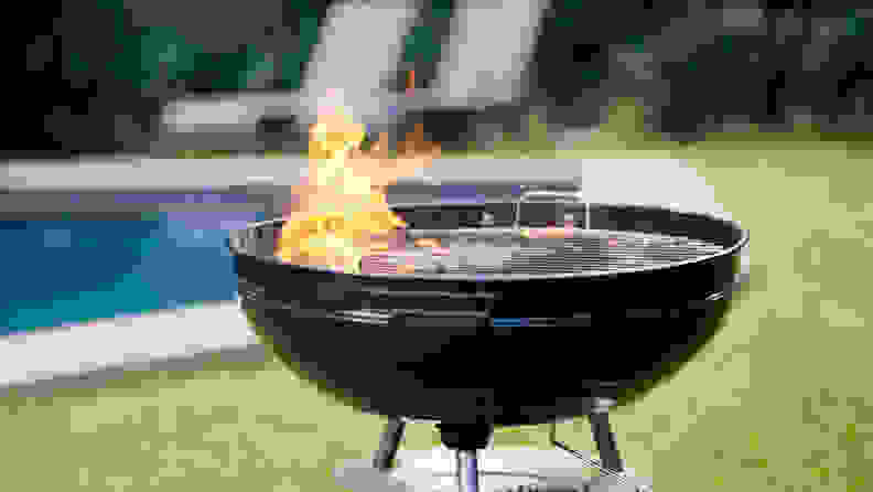 Grill outside