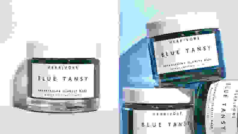 The Herbivore Blue Tansy Resurfacing Clarity Mask.
