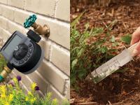 Garden tools for beginners: hose timer and soil knife