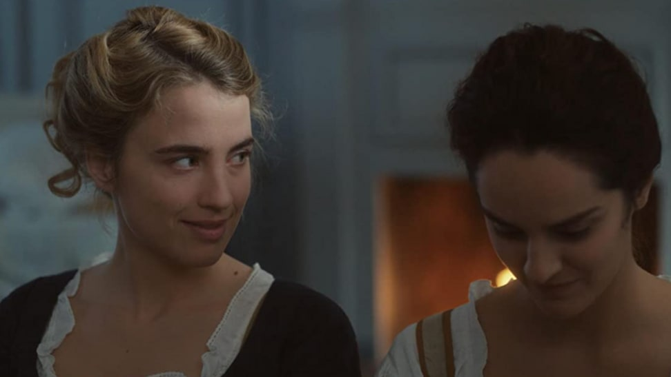A scene between Noémie Merlant and Adèle Haenel in Portrait of a Woman on Fire.