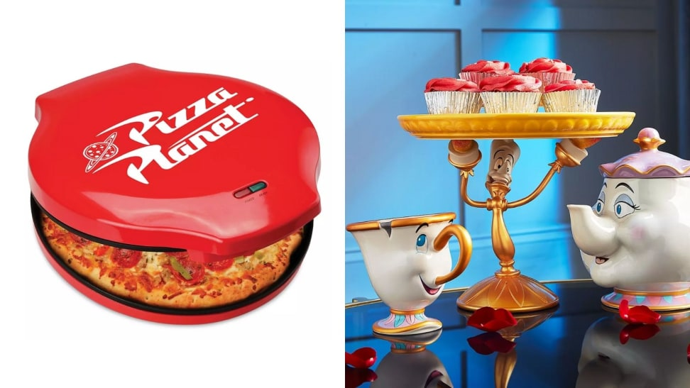 Left: Pizza Planet Pizza Maker; Right: Chip Cup