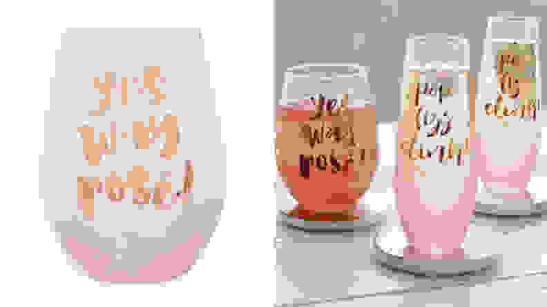 """Yes Way Rosé"" Glass"