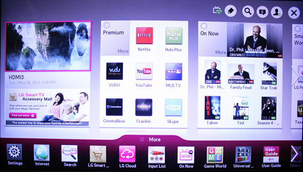 LG's smart platform has a slick layout.