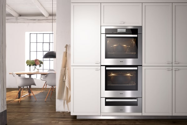 The Miele H6780BP2 (and ESW 6780 ContourLine warming drawer) are excellent examples of contemporary european design.