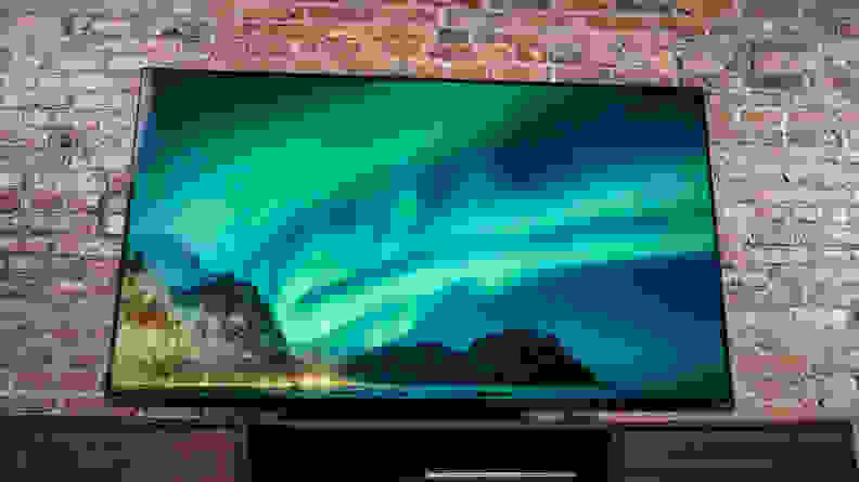 The Vizio P-Series Quantum (2021) displaying 4K content in a living room setting