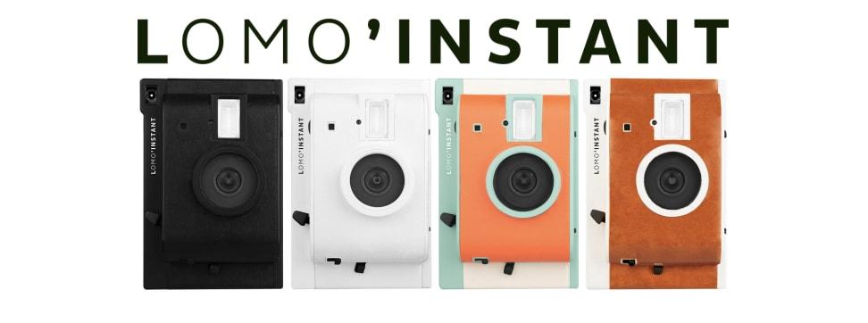 The four designs of the Lomo'Instant camera.