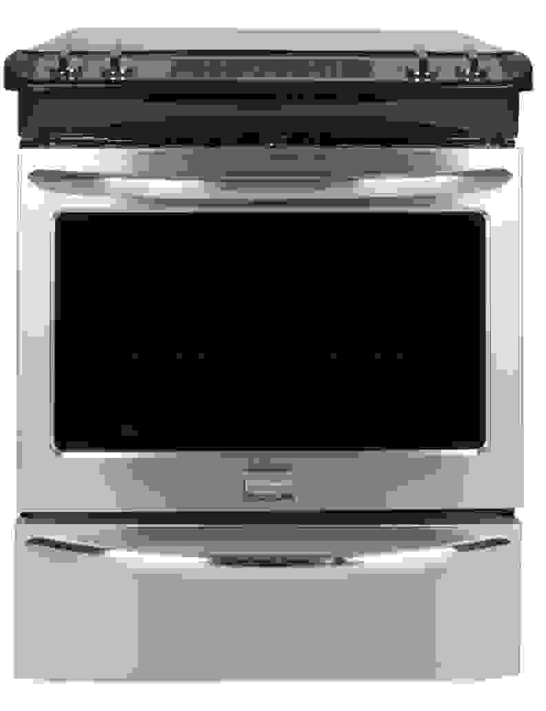 The Frigidaire FGES3065PF electric slide-in range.