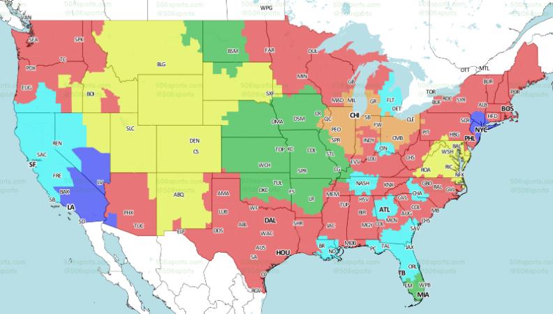 506sports week 16 2017 broadcast map