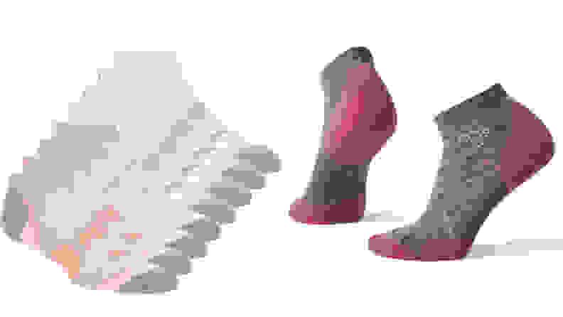 left: puma athletic socks. right: smartwool athletic socks.