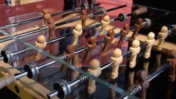 1242911077001 3460997178001 this  10 000 foosball table is the perfect addition to your game room large