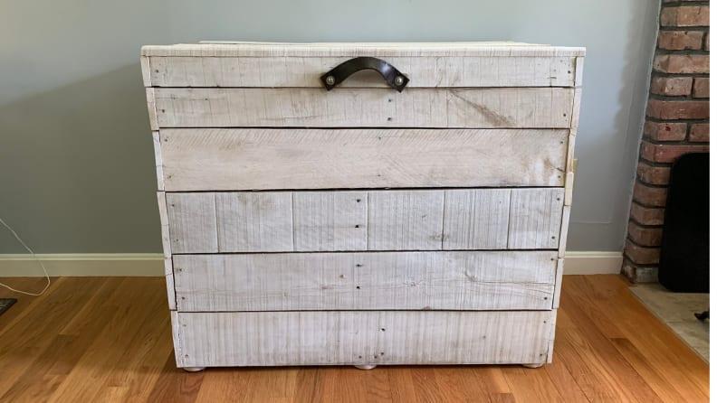 pallet firewood bin
