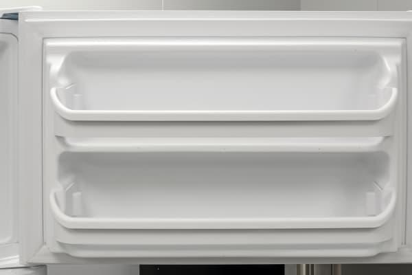 A pair of door shelves provides some extra storage for the Frigidaire FFTR1814QW's freezer.