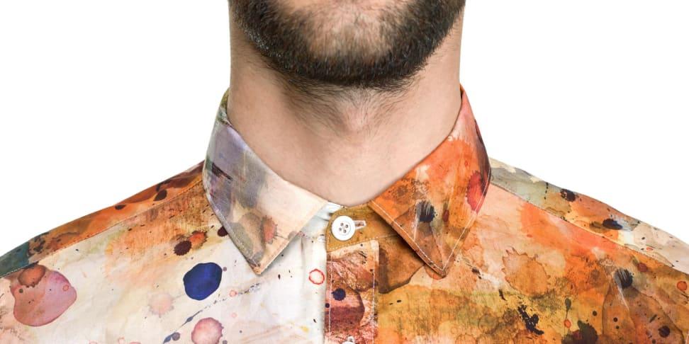 Dirt Pattern Material Shirt Collar