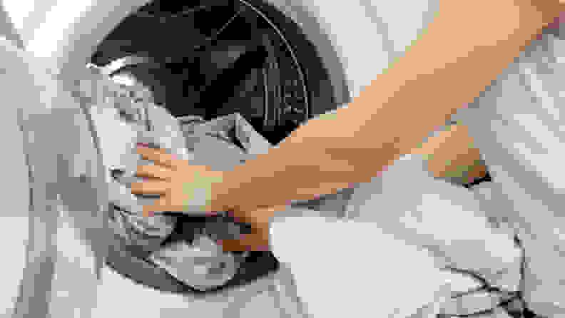 Coronavirus COVID-19 Doing laundry