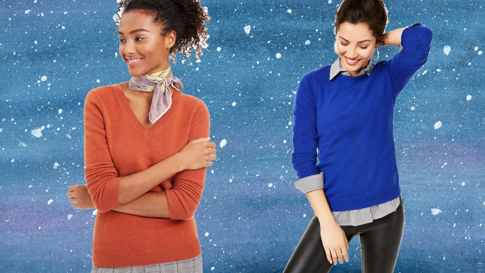 Cashmere sweaters are more than half off right now at Macy's