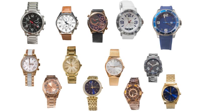 variety of wrist watches