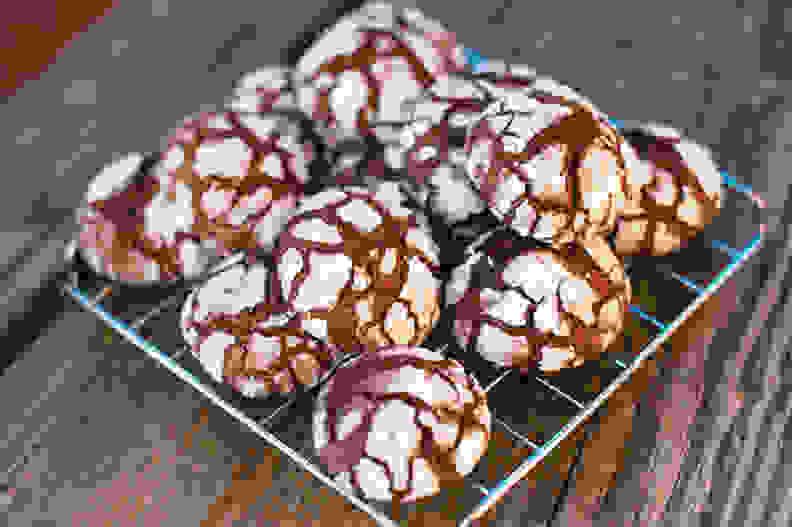 Double chocolate snowquakes