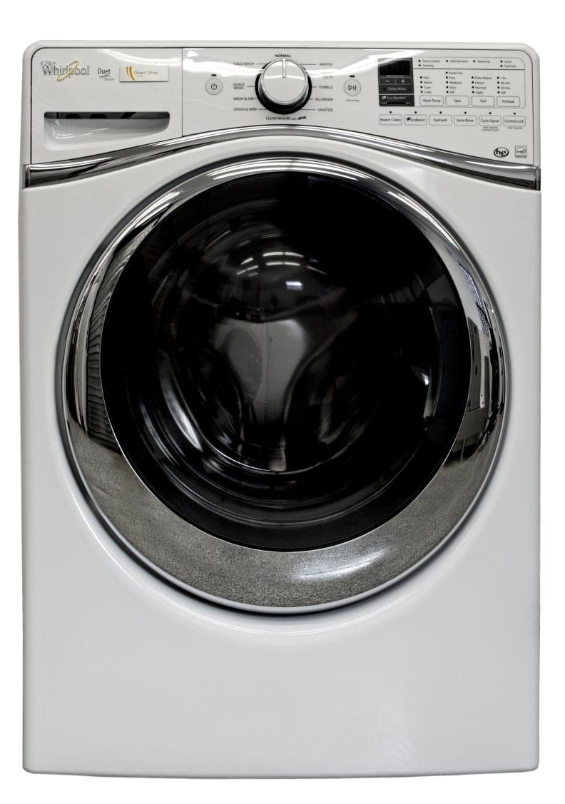 The Whirlpool WFW95HEDW is one sleek washer.