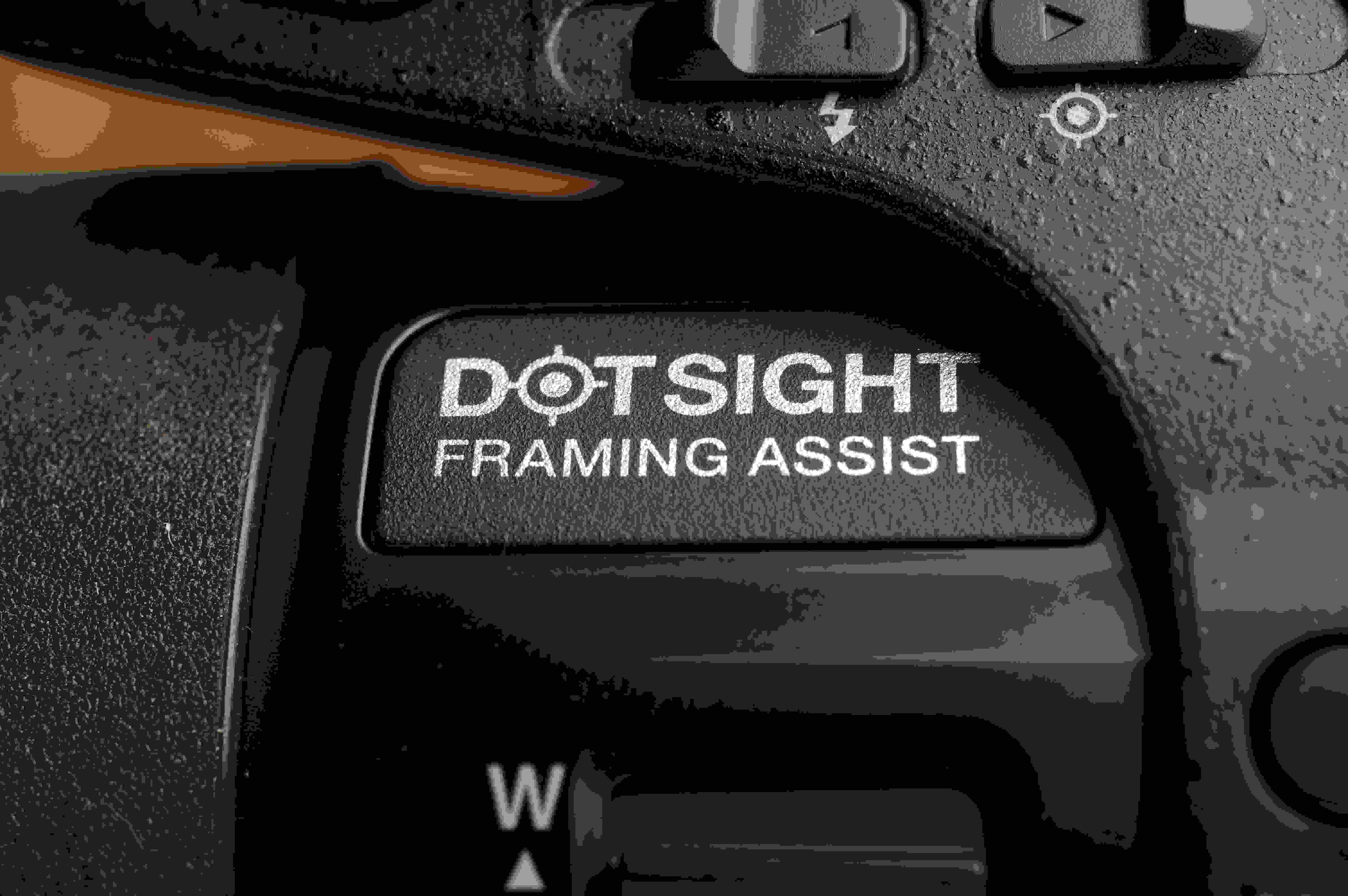 """The """"dotsight"""" helps keep track of subjects while zoomed in."""