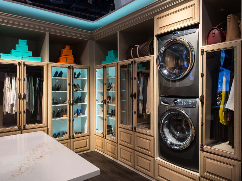 Electrolux showed off the 517 washer/dryer pair in a stacked configuration at KBIS 2016.
