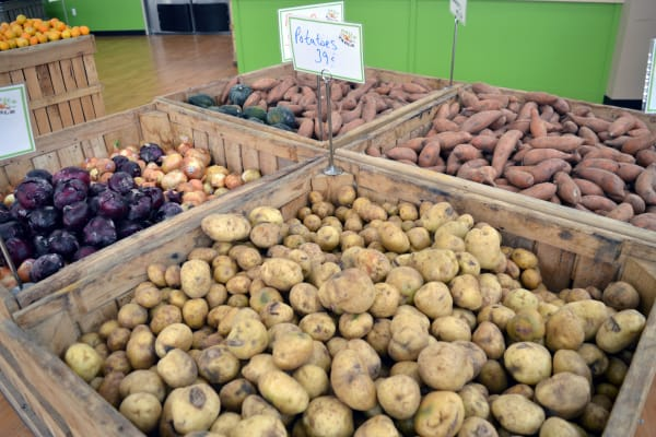 Root vegetables are now on display, and will likely be replaced in the spring by berries, leafy greens, and other varieties of produce.