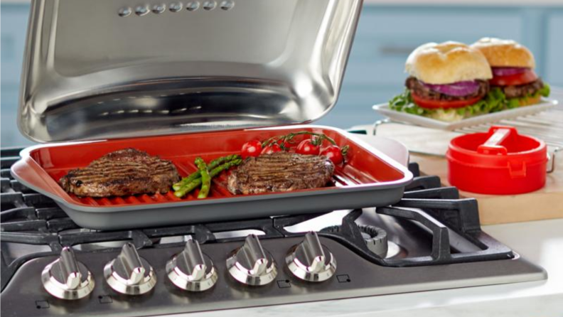 indoor grill on kitchen counter
