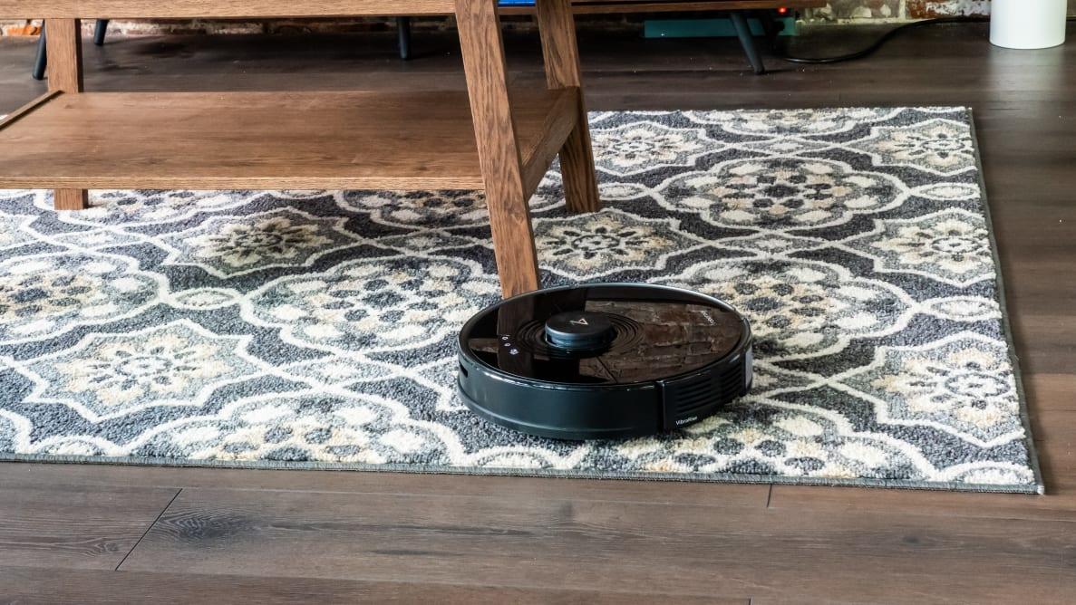 The Roborock S7 on carpet