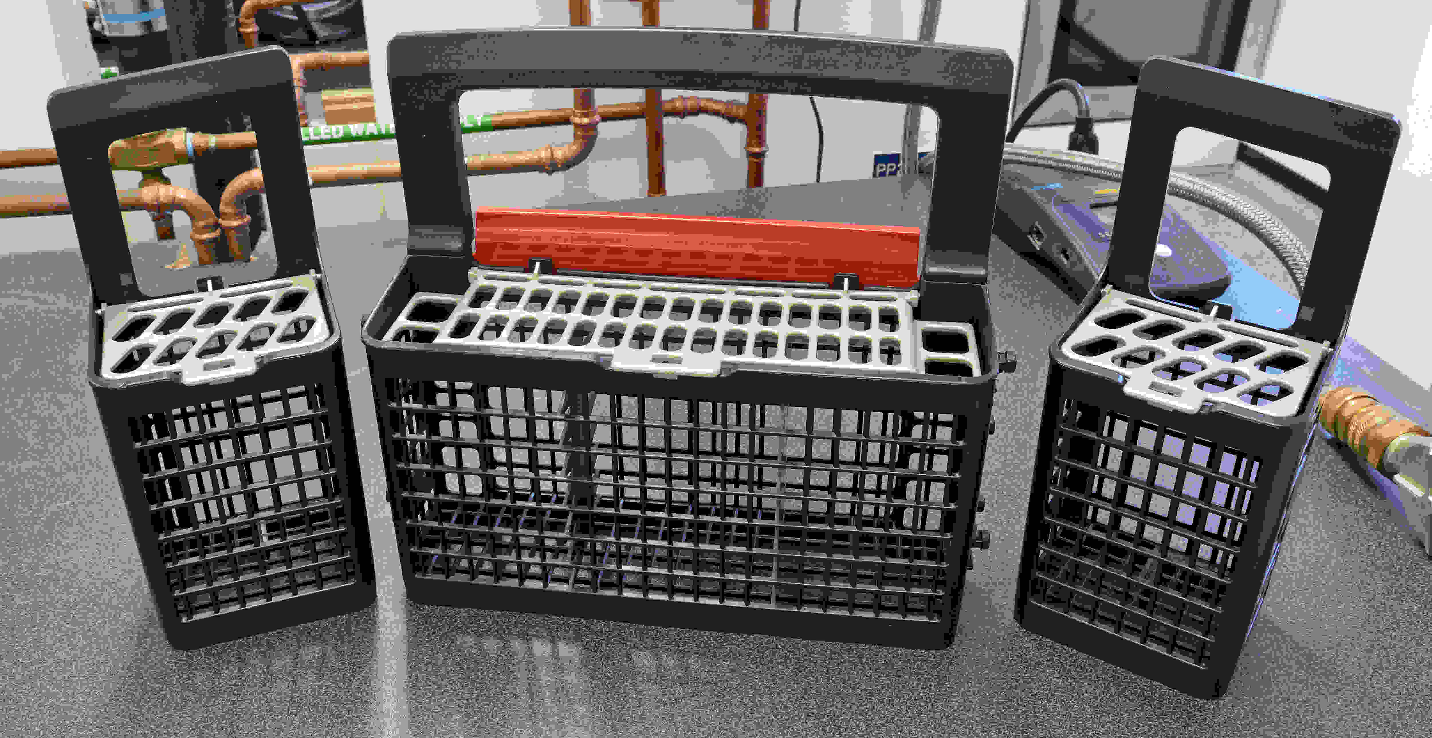 The GE Profile PDT855S's cutlery basket comes in three distinct sections.