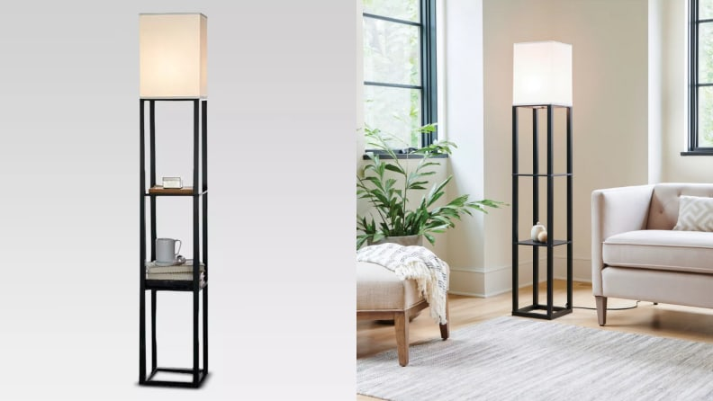 Floor Lamps That Will Light Up, Floor Lamps With Shelf Canada