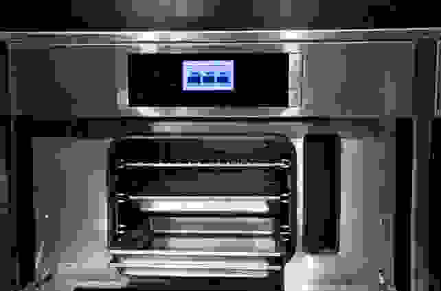 Benchmark steam convection oven interior