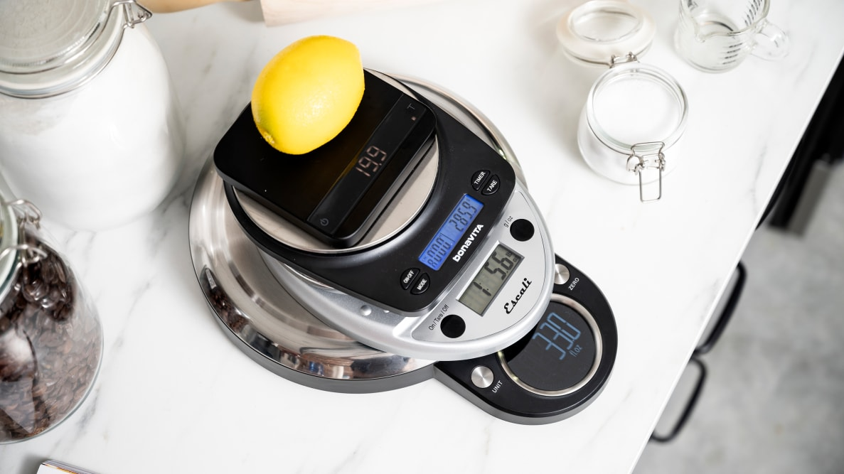 Kitchen scales from Acaia, OXO, Bonavita, Escali, and All-Clad