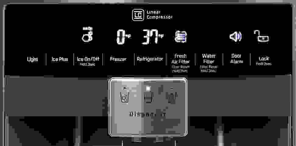 LG LPXS30866D Controls