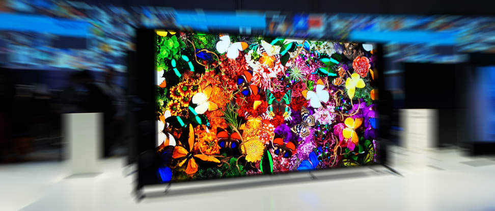 A 4K TV on display at CES 2015