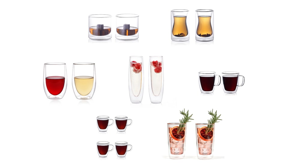 These glasses will actually keep your drinks cold—and they're on sale right now