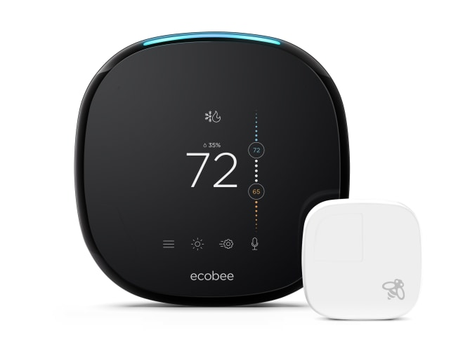 The Ecobee4 smart thermostat with Alexa