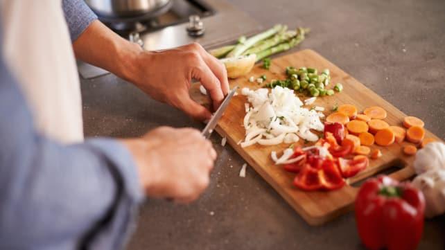 Induction cooking - mise-en-place