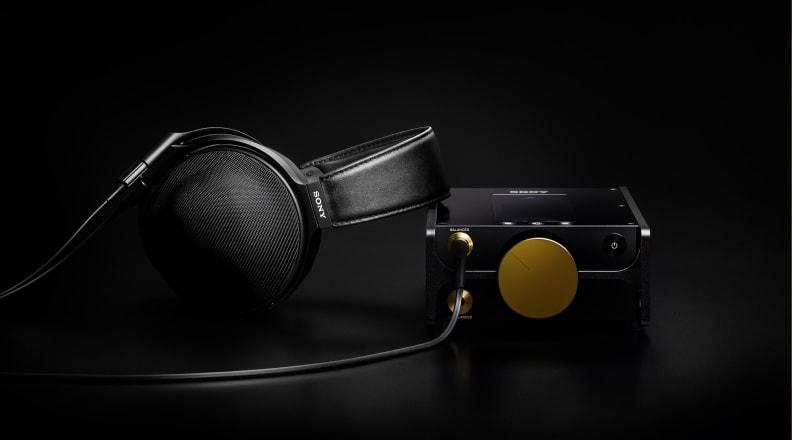 Sony DMP-Z1 digital music player and MDR-Z1R headphones
