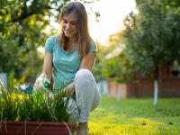woman gardening outside