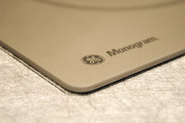 GE's Monogram induction cooktop mounts flush with countertops